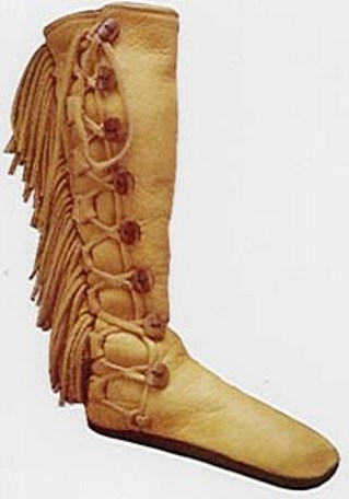 gold elk fringe moccasins
