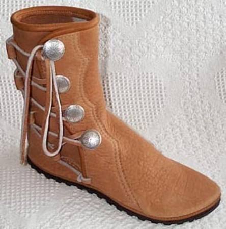 4 button sand women's leather moccasins