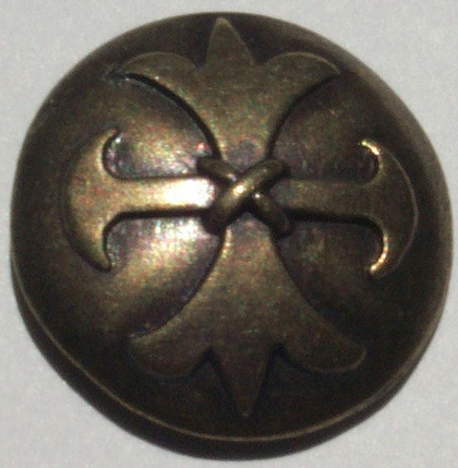 brass celtic cross metal button