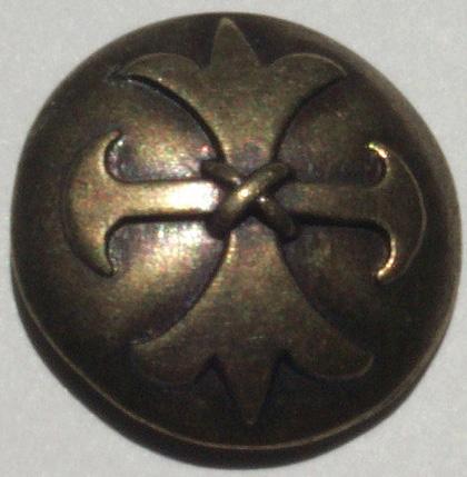 brass celtic cross metal button