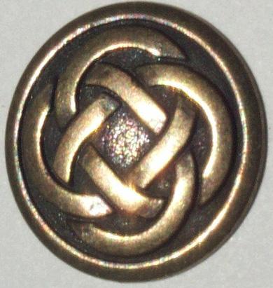 pewter antique gold celtic knot button