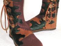 oak leaves custom buffalo moccasins