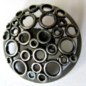silver circles metal button