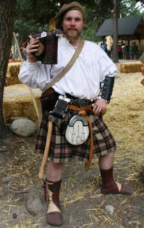 Scottish kilt custom mens buffalo moccasins