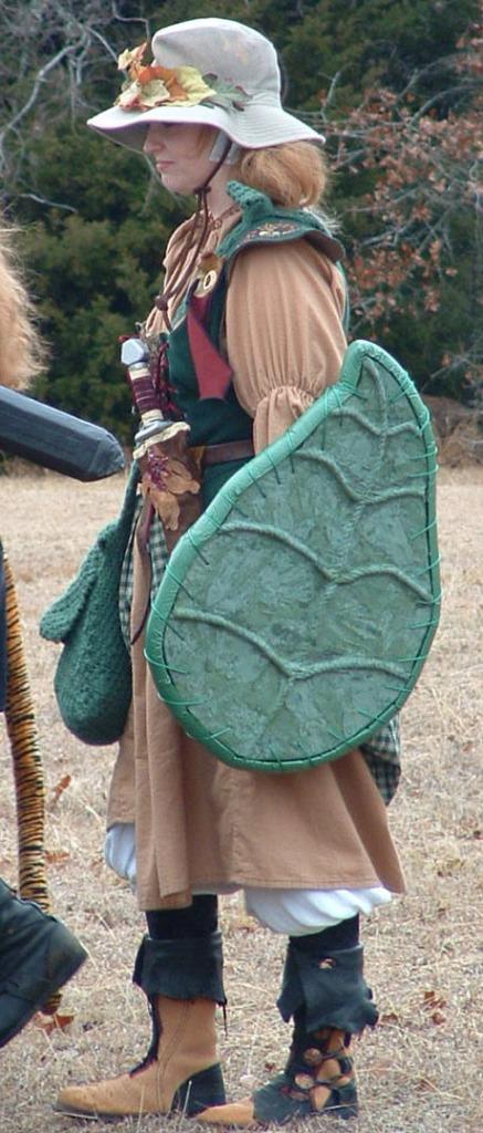 women's LARP costume moccasins