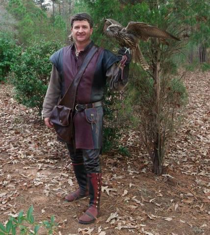 falconer men's leather moccasins knee high
