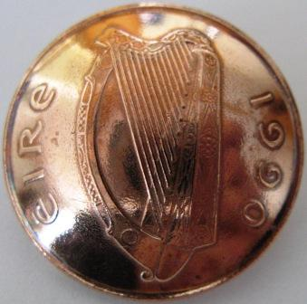 Brass metal harp button