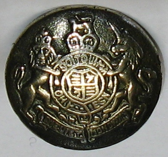 brass metal coat of arms button