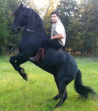 5 button men's buffalo moccasins horseback