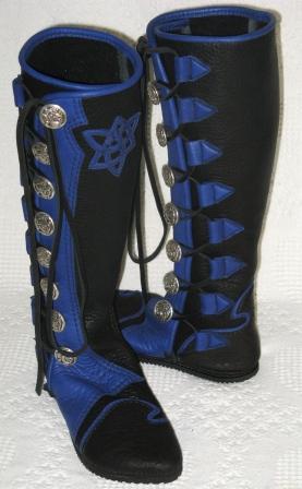 blue deer celtic knot star moccasins