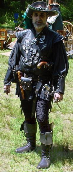 sodhoppers custom black pirate boots cuff
