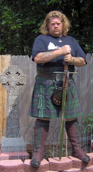 men's celtic knee high buffalo moccasins kilt