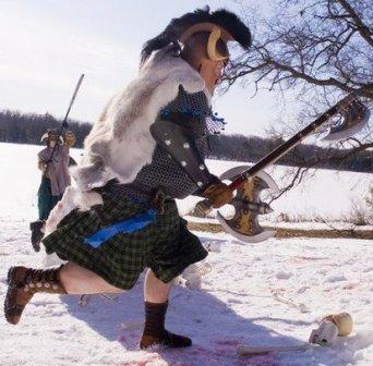 LARP barbarian running mens custom boots