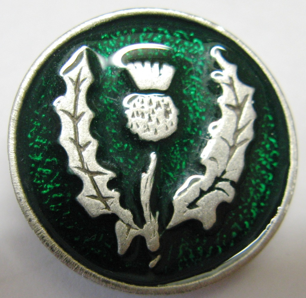 green thistle button