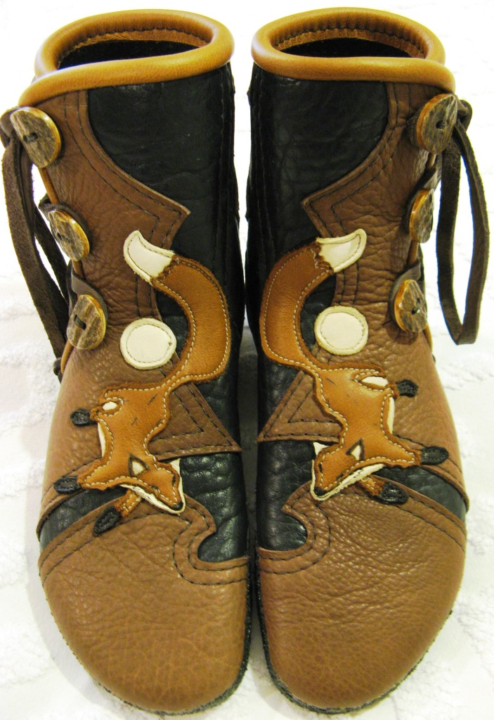 leather fox moccasins