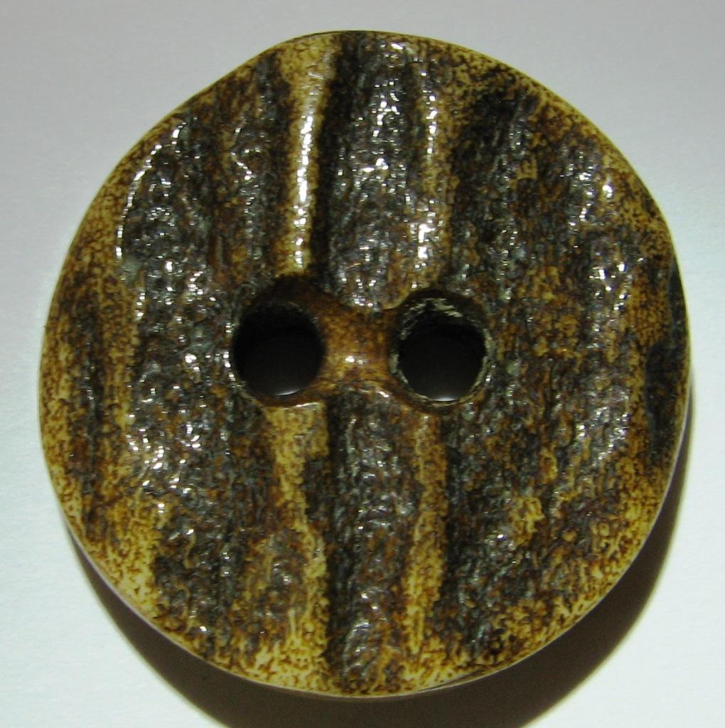 brown antler side cut button