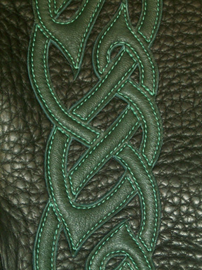 celtic knotwork on moccasin