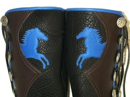 horse on moccasins