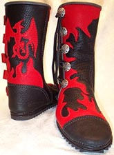 dragon and flames moccasins