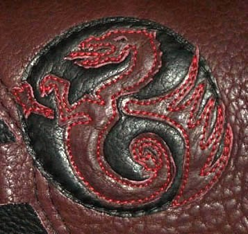 dragon artwork on moccasin