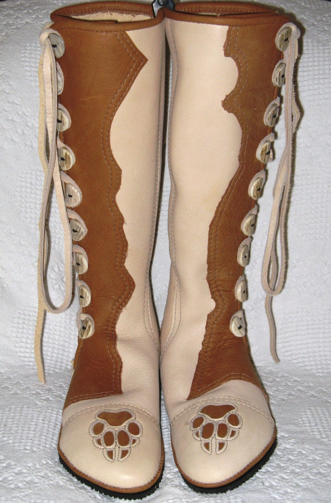 knee high wolf paws moccasins
