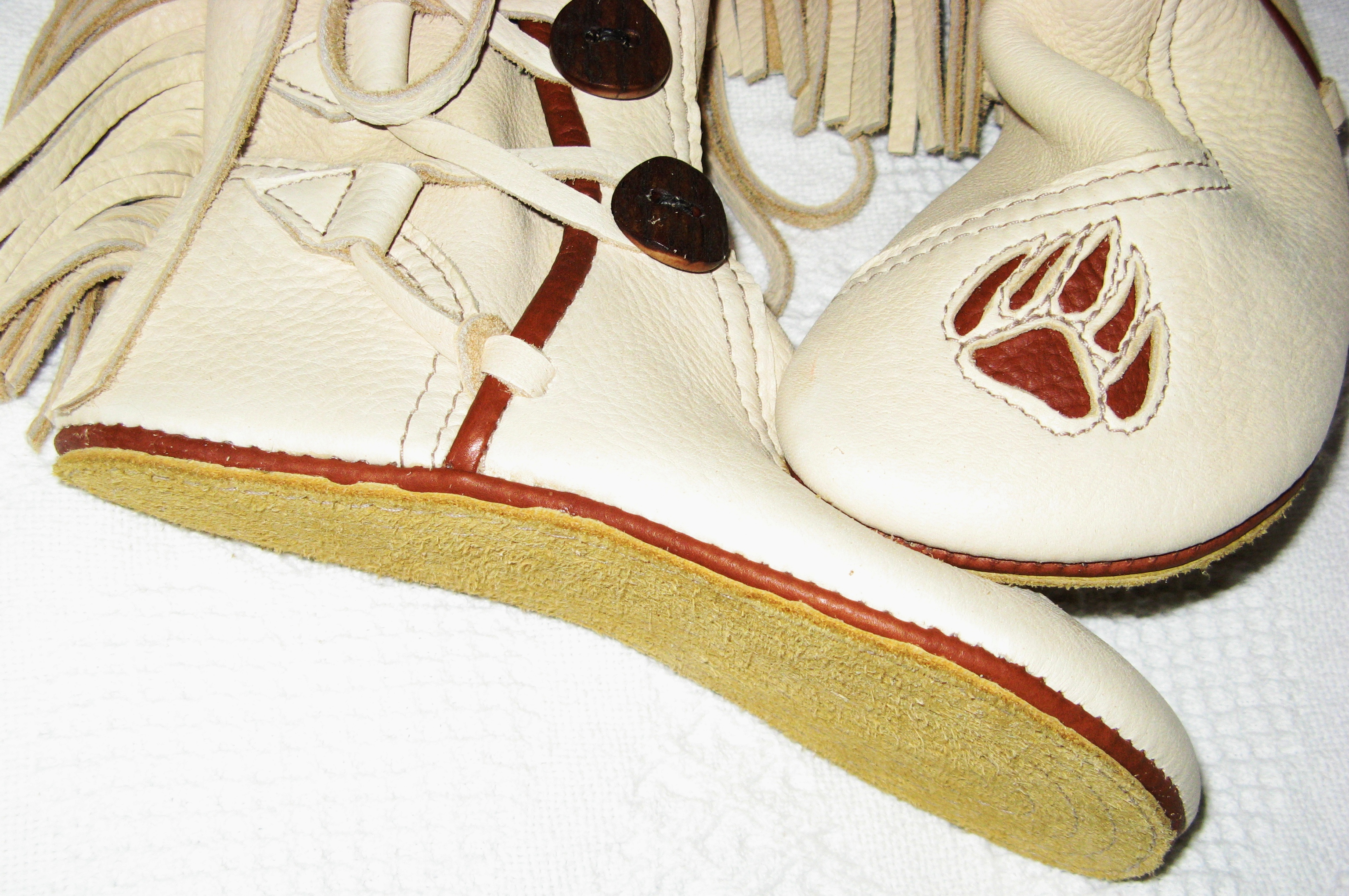 moccasins double leather soles