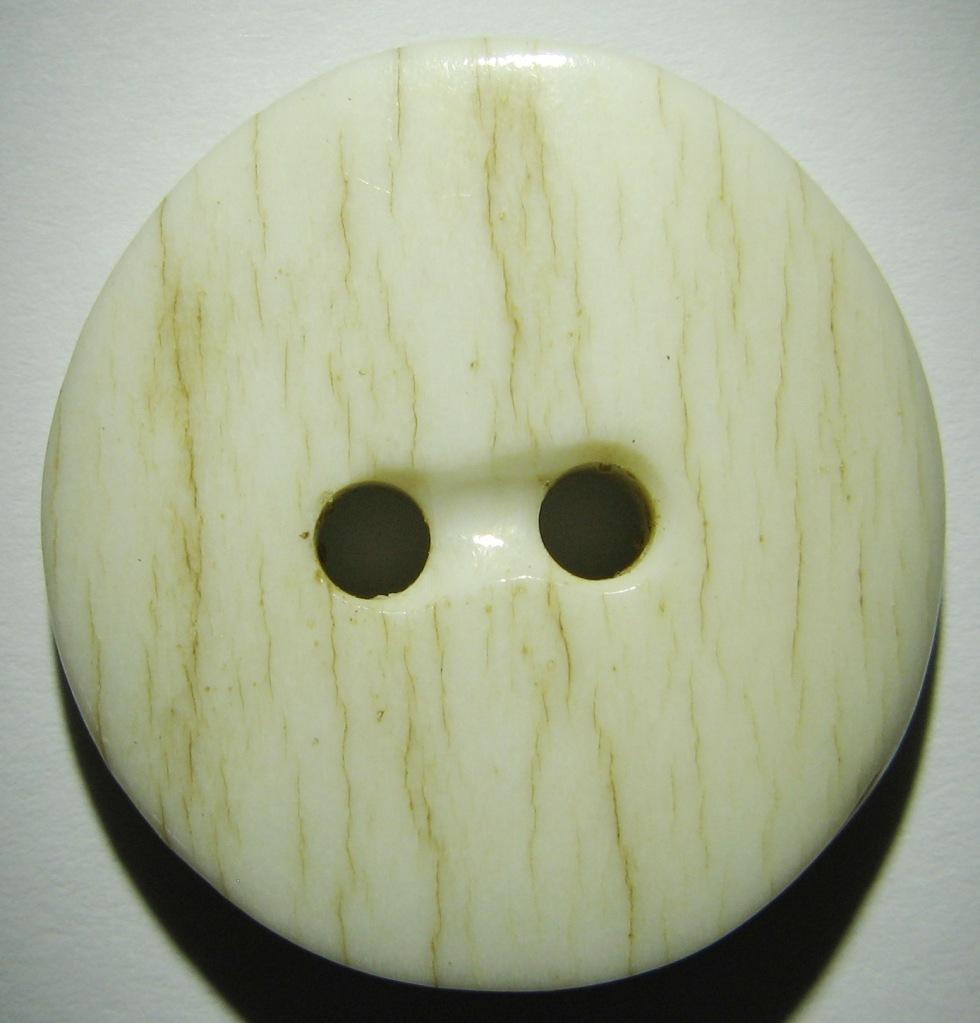 natural antler side cut button