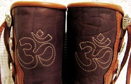 ohm stitched moccasins